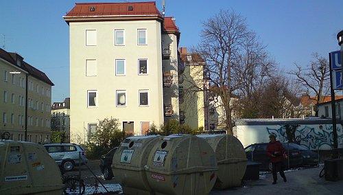 Ecke Ligsalzstr./Heimeranstr. am 23.02.2011