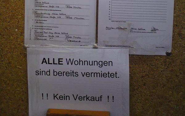 Aushang Bauvorhaben Ecke Ligsalzstr./Heimeranstr.