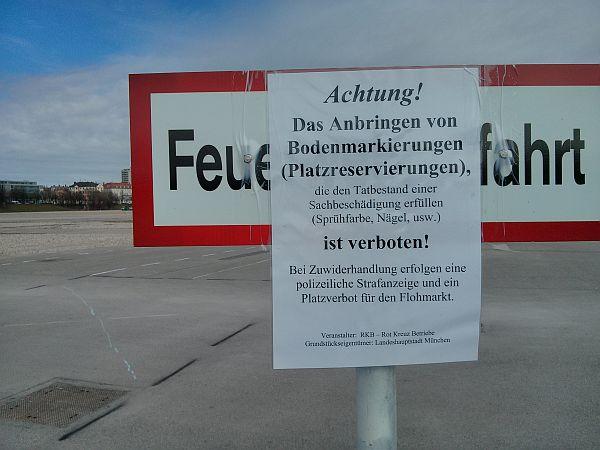 Parzellierung II - Flohmarkt Theresienwiese 2013