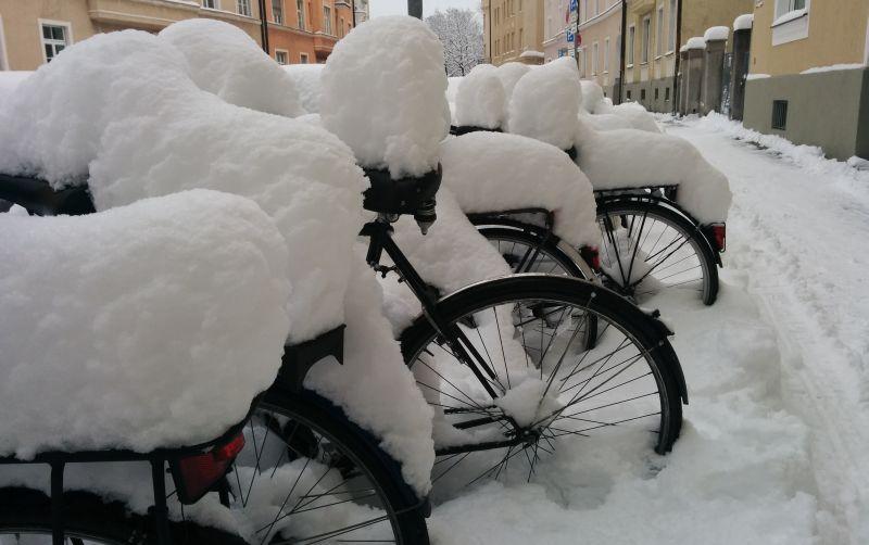 Schnee im Westend