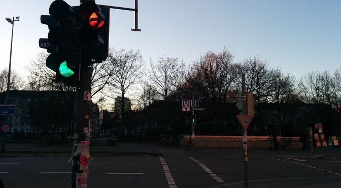 Ampelschaltung: Ecke Heimeran- und Ganghoferstr.