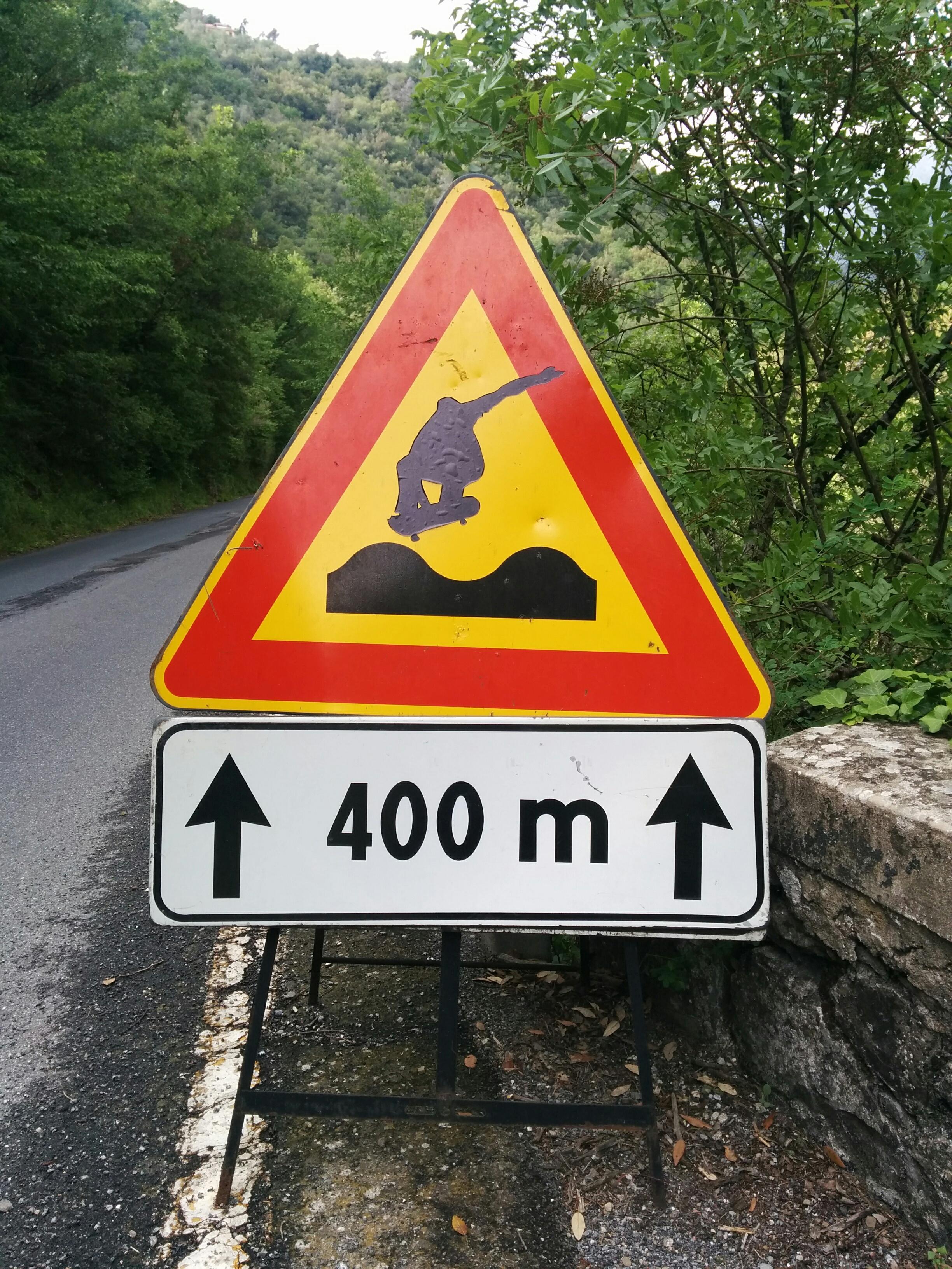 Vorsicht: 400 m Skater