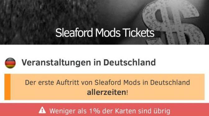 Der erste Auftritt von Sleaford Mods in Deutschland allerzeiten!