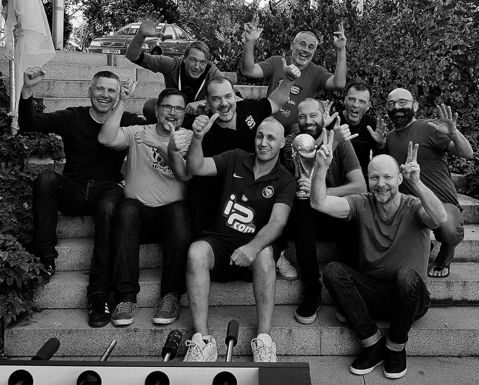 Westend Boys auf Kicker-Seminar mit Oktay Mann und Jamal Allalou