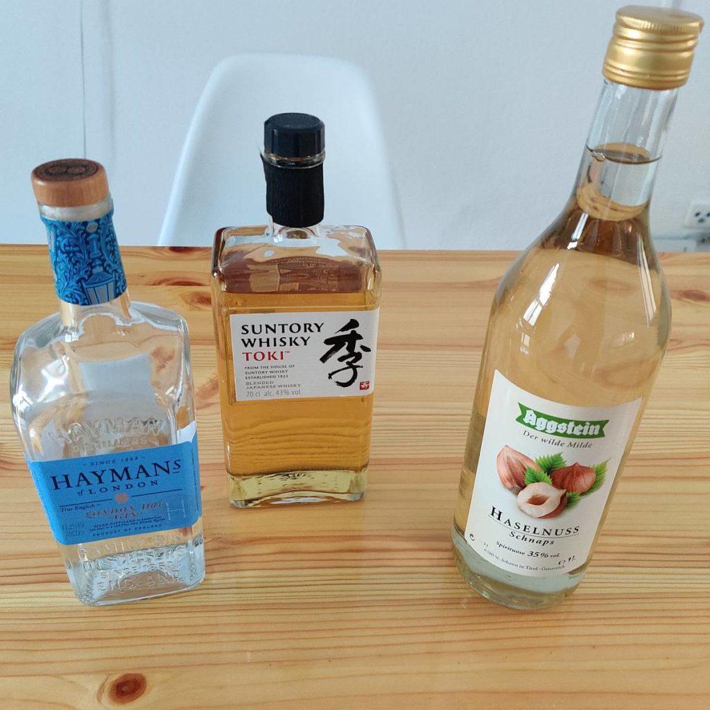 Gin Haselnuss und Whiskey